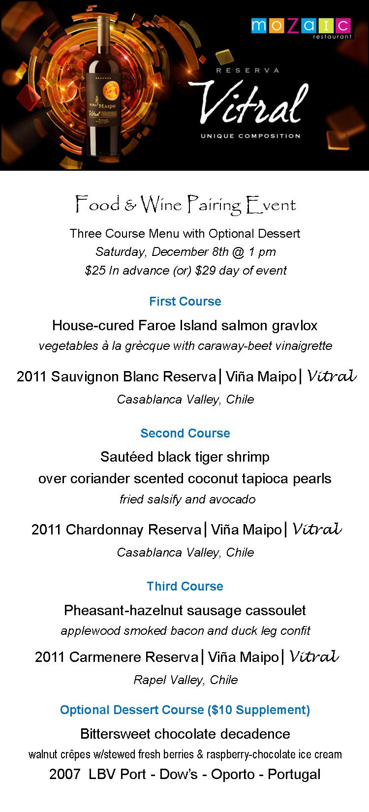 Vina Maipo menu2