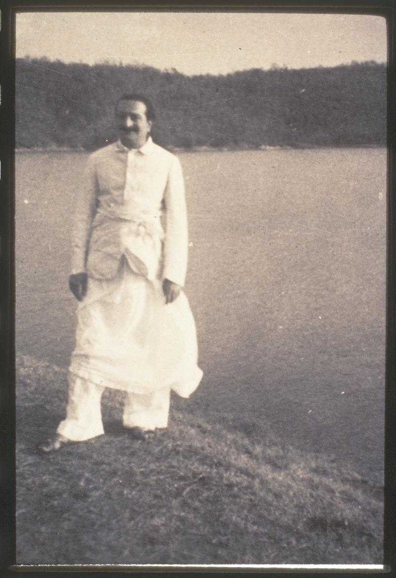Meher Baba by the lake
