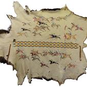 Painted Elk Robe