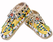 Quilled & Beaded Moccasins