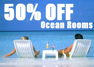 50 off ocean rooms