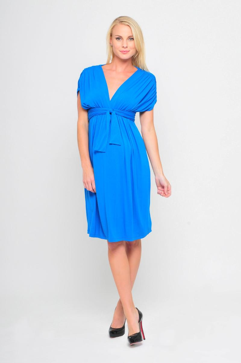 olian blue dress