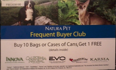 Natura Frequent buyer card