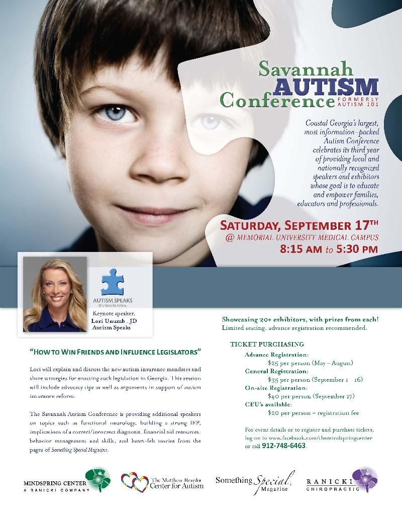 Savannah Autism Conference Ad