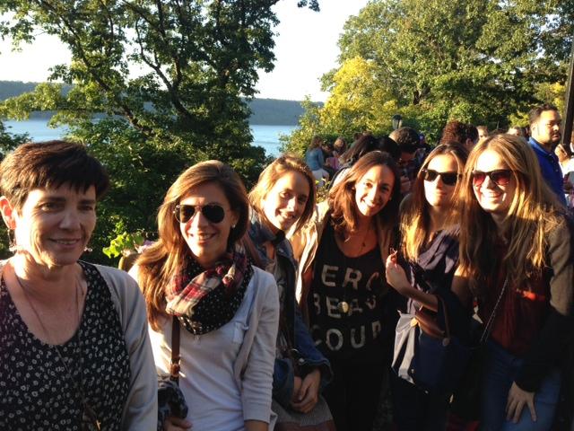 Eileen with Spanish girls
