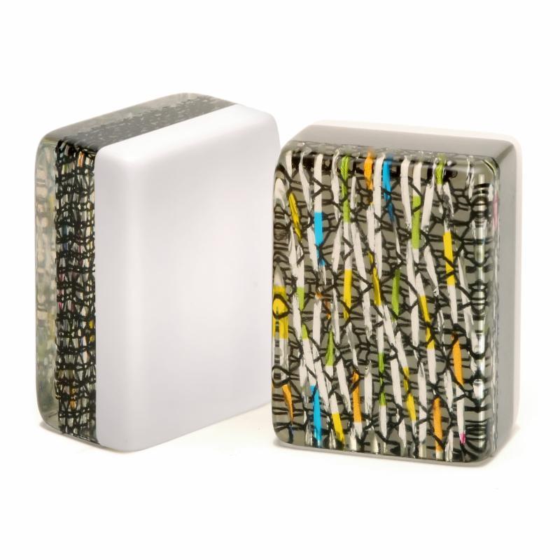 Silver mardi gras tiles