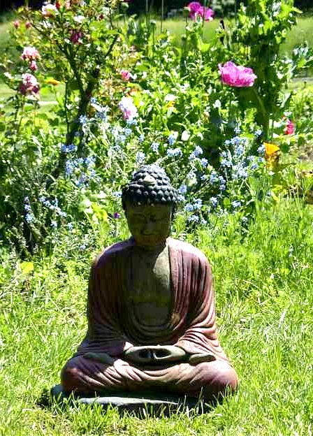 Green Gulch_Buddha_Flowers