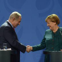 Netanyahu and Merkel _Israel GPO Photograph_