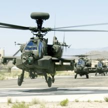 US Army AH-64D Apache attack helicopters (Illustrative)
