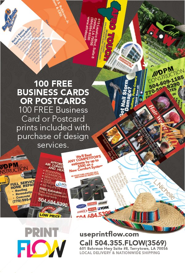 Get 100 FREE 4x6 Or Business Card Prints When We Design Your Flyer