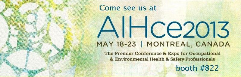 AIHce2013 booth #822