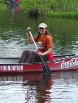 Diana paddling