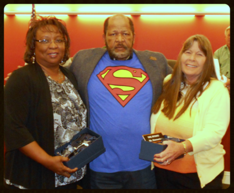 (Left to Right) Account Specialist II Sabrina Jackson, Mayor H.L.Roy Tyler, Street Superintendent Gail Myhand