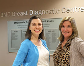 Clinical Nurse Specialists Ashleigh Clarke and Doreen Saint  are patient navigators in the BMO Financial Group Breast Diagnostic Centre.