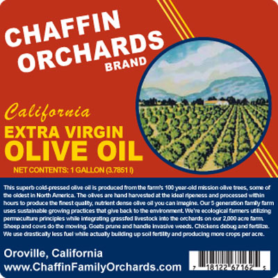 Retro Chaffin Orchards Label
