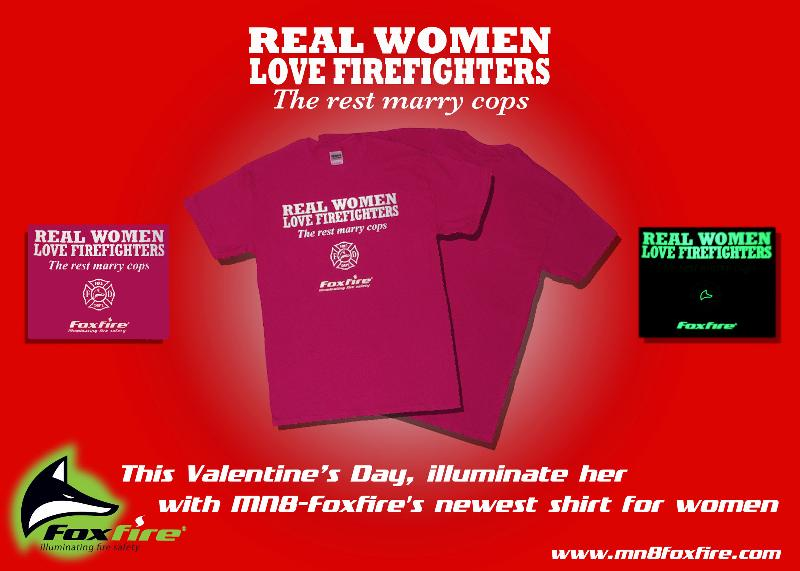 Real Women Love Firefighters Valentines