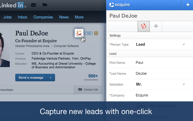 On LinkedIn Integration by Ecquire