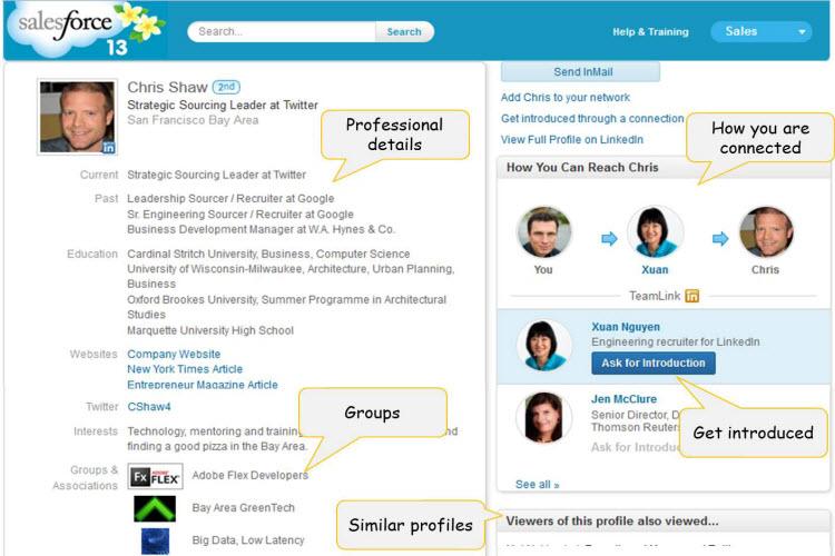 On LinkedIn Sales Navigator for Salesforce