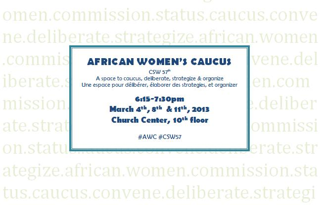 African Women's Caucus at the 57th CSW