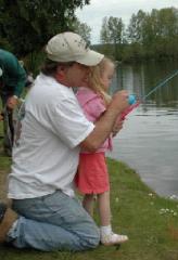 Girl & Dad Fishing
