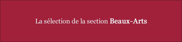 La sélection de Valérie V., Valérie L., Bernard, David et Laurent de la section Beaux-Arts