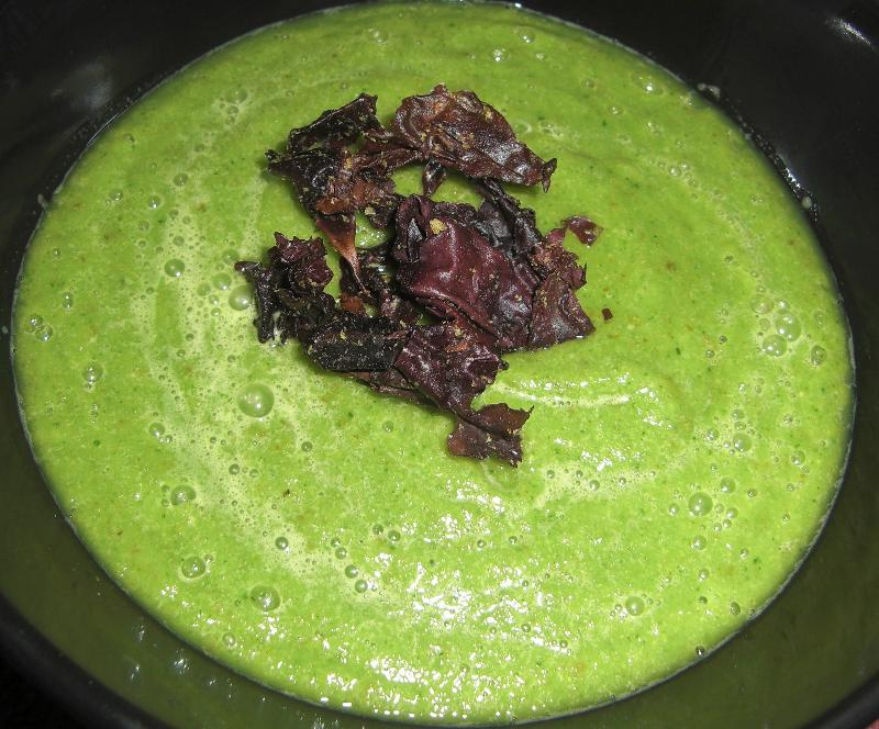 pear and watercress soup