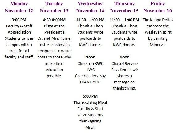 Generosity Week 2012