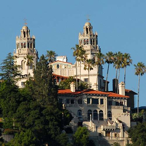 Hearst Castle Hill top view