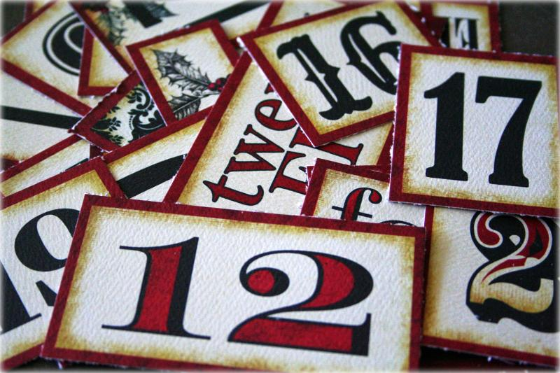 Chipboard numbers
