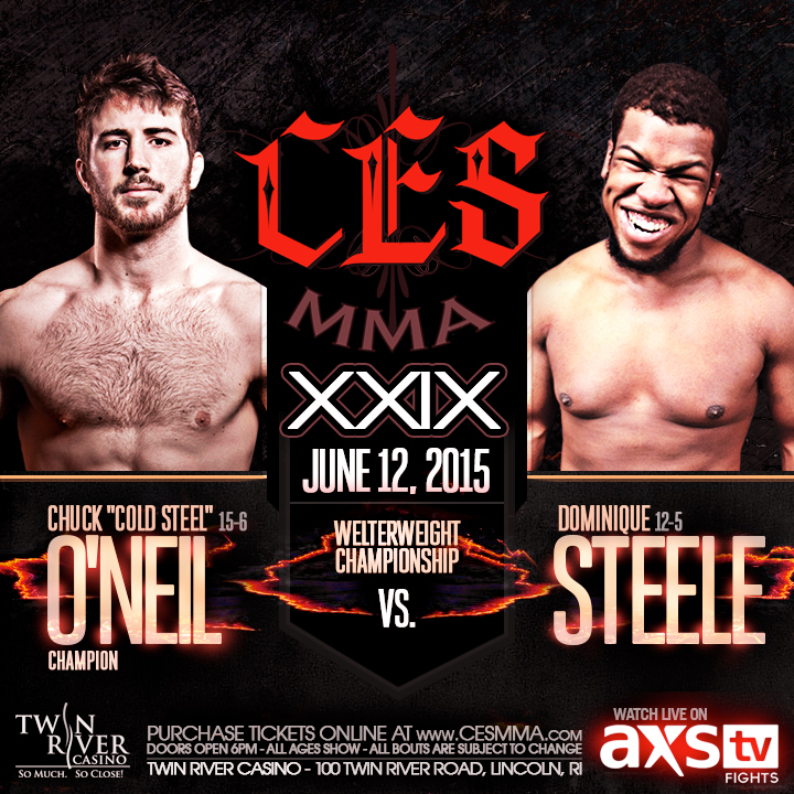 CES XXIX ANNOUNCED CES MMA Releases Fight Card For June 12th