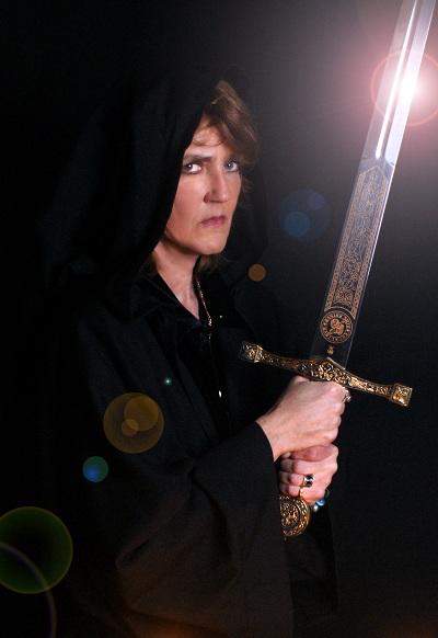 Paula with Sword
