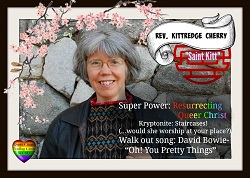 Kittredge Cherry on Queer Clergy Trading Card