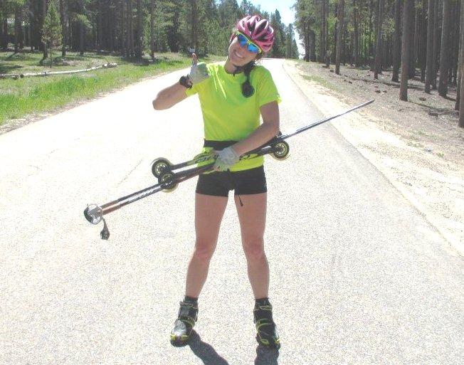 Happy Roller Skier