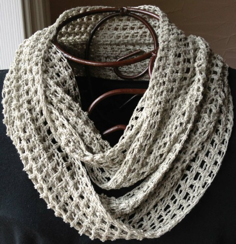 diane crochet cowl linen
