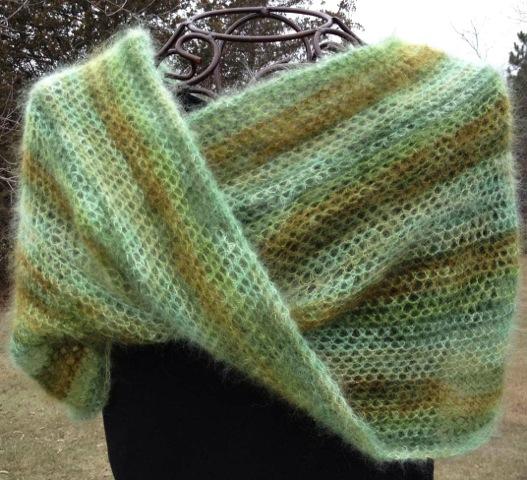 diane crochet cowl mohair