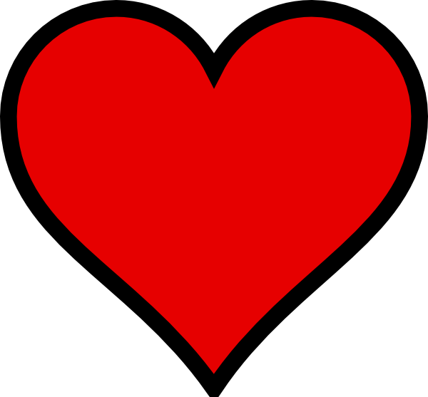 heart with black outline