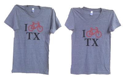 I Bike TX t-shirt