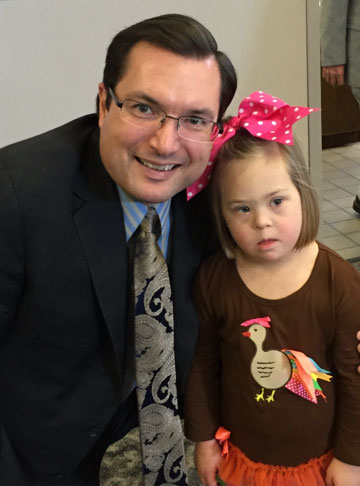 Attorney Gibbs, III, with a Georgia pastor's daughter