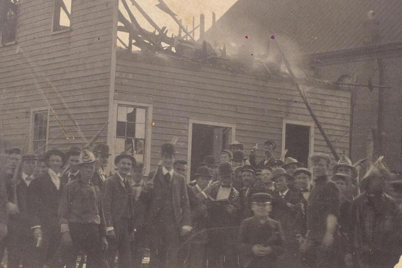 Burning of The Daily Record - 1898