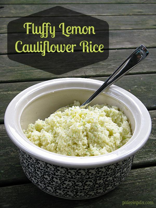 Lemon Parsley Cauliflower Rice