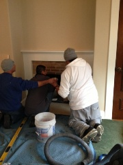 Installing the marble