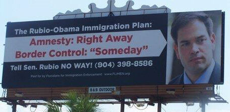 Rubio Amnesty Billboard in Jacksonville Florida