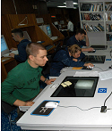 Sailors Accessing Internet on CV-67