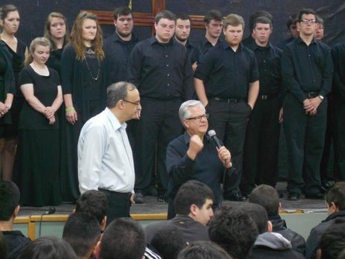 Fred with LBC Choir
