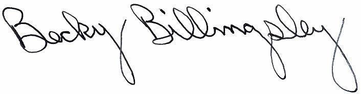 becky signature