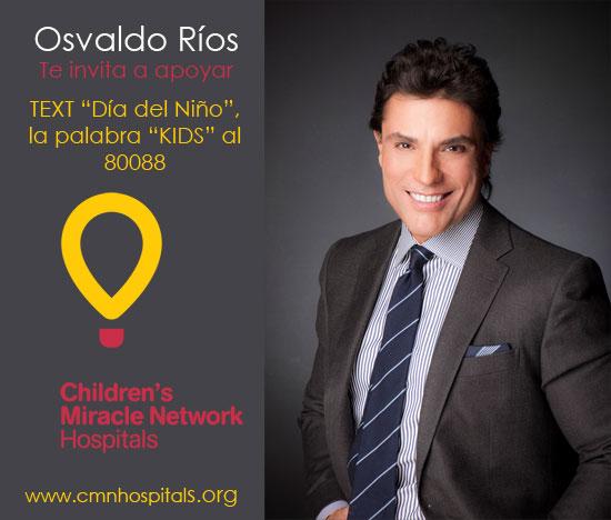 Osvaldo Rios apoyando el dia del nino