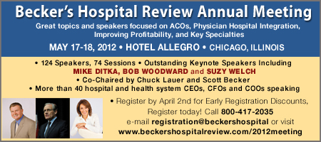 2012 Becker's Hospital Review Annual Meeting