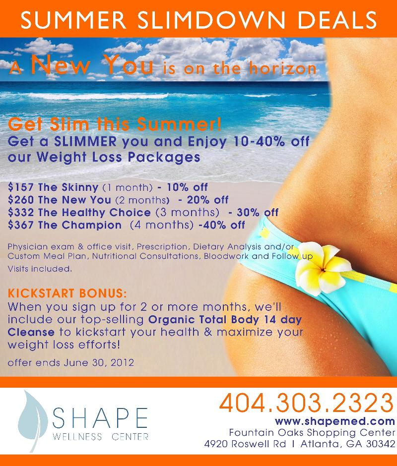 Up To 40 Off Weight Loss Packages BONUS Organic Cleanse Get Slim This Summer