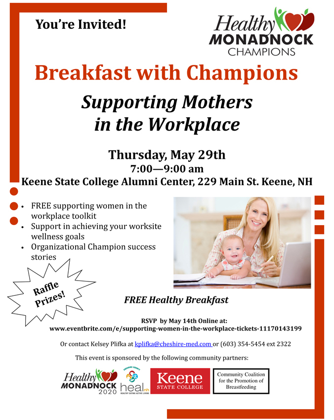 Healthy Monadnock Breakfast with Champions
