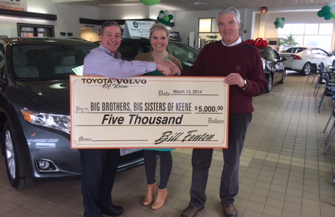 BBBS recieves $500 from Fenton Family Dealerships